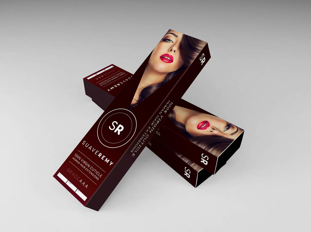 suave-remy-hair-extensions-package-box-design-image