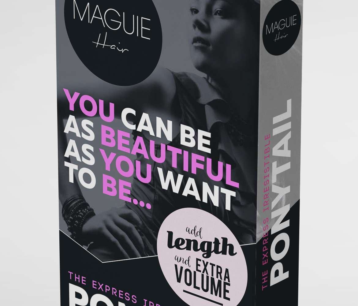 wraparound-ponytail-hair-extensions-box-packaging-design-maguie-alternate-close-up-image