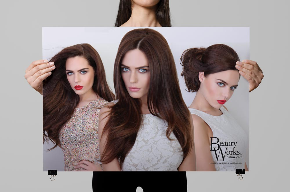 Print Design Advertising Marketing Campaign Hair Extensions