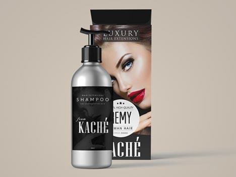 KACHE HAIR EXTENSIONS PACKAGING DESIGN AGENCY